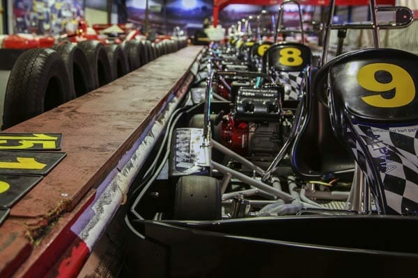 close up kart in rij