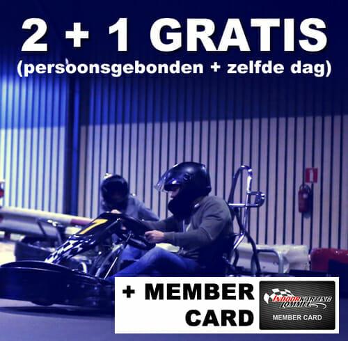 2+1 heat karten inclusief member card