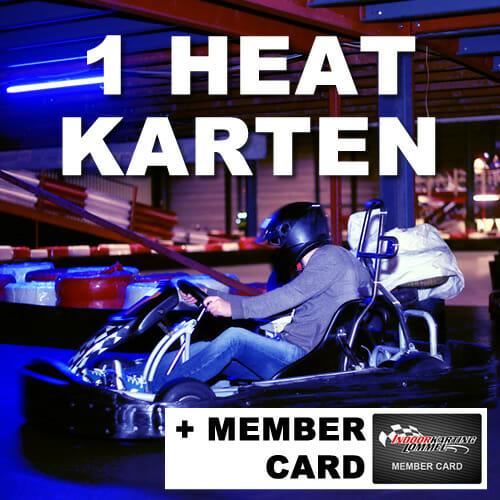 1 heat karten inclusief member card